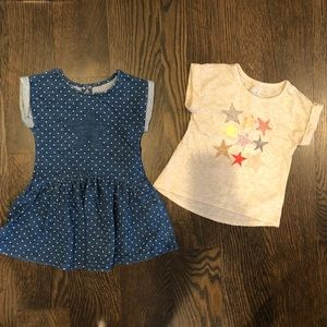Cat and jack dress and top size 2T